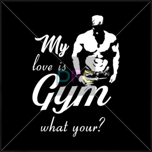 1 DFC S 010 my love is GYM - Men's Premium T-Shirt