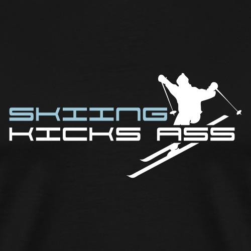 Skiing Kicks Ass - Men's Premium T-Shirt