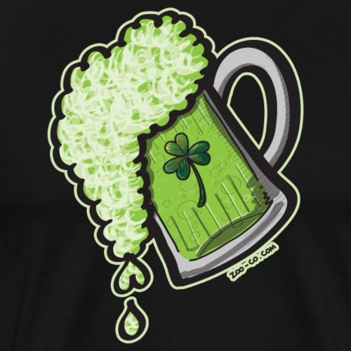 Saint Patrick's Day Glass of Beer - Men's Premium T-Shirt