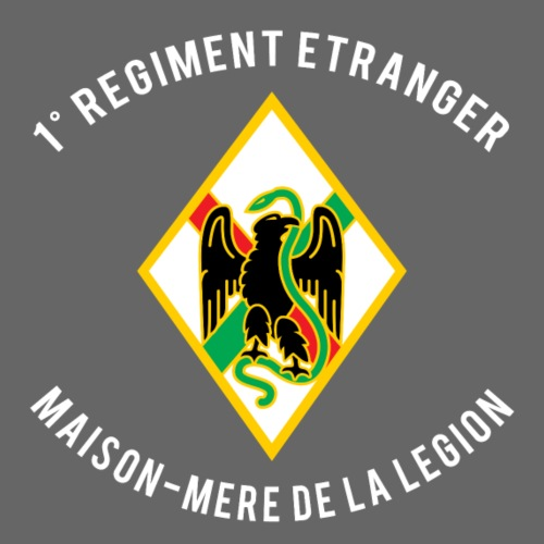 1RE - Regiment Etranger - Badge - Men's Premium T-Shirt