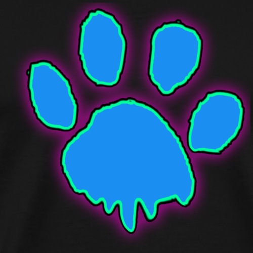 driping paw - Men's Premium T-Shirt