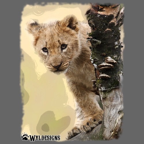 Lion Cub Peeking - Men's Premium T-Shirt