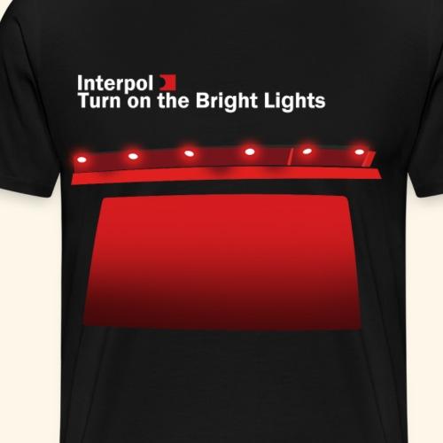 Interpol Turn On The Bright Lights - Men's Premium T-Shirt