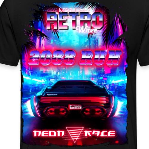 Retro Wave 2 - Men's Premium T-Shirt
