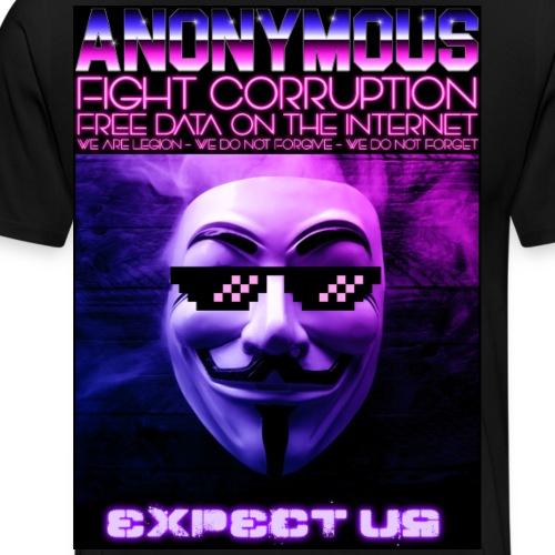 Retro Wave Anonymous - Men's Premium T-Shirt