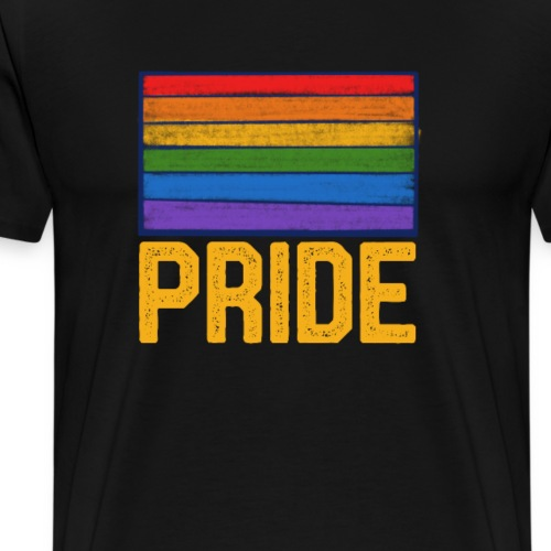 gay pride rainbow flag - Men's Premium T-Shirt