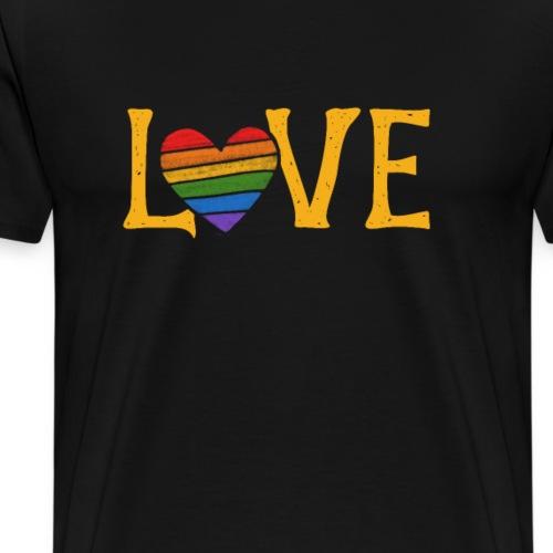 love pride rainbow - Men's Premium T-Shirt
