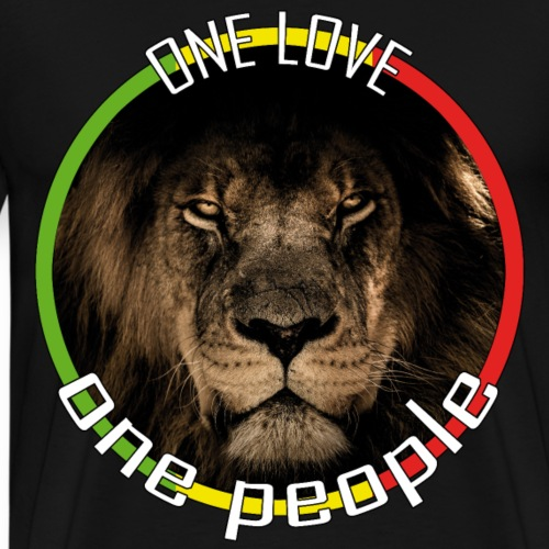 One Love, One People - red, gold, green