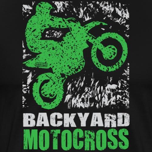 Motocross Backyard Green - Men's Premium T-Shirt