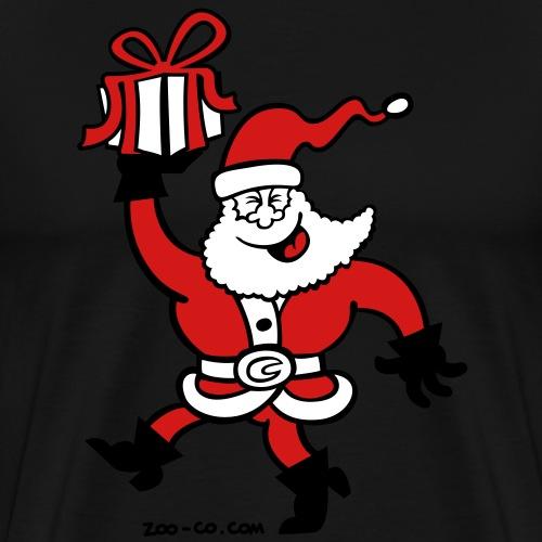 Santa Claus Brings a Gift - Men's Premium T-Shirt