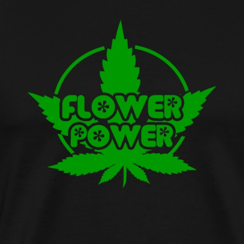 Flower Power Smoker - 420 Hippie Shirt men/women - Men's Premium T-Shirt