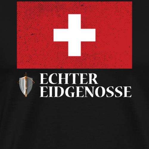 Real Swiss Patriot Switzerland (Swiss-German) - Men's Premium T-Shirt