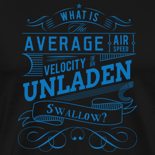 Monty Python - Velocity of an Unladen Swallow - Men's Premium T-Shirt
