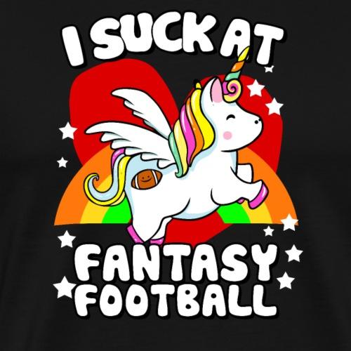 I Suck At Fantasy Football - Men's Premium T-Shirt