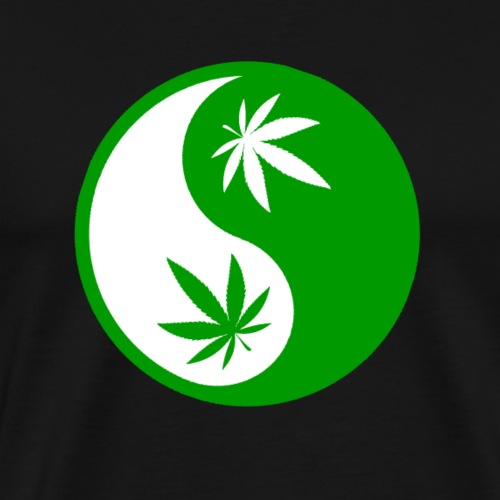Ying Yang Cannabis - Weed Ying Hanf Yang - Design - Men's Premium T-Shirt