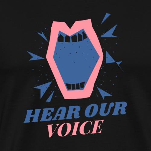 hear our voice design - Men's Premium T-Shirt