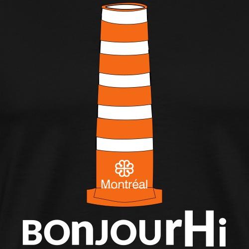bonjourHi MONTREAL construction cone - Men's Premium T-Shirt