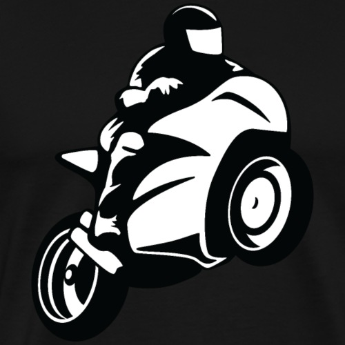Super Sport Bike Motorcycle Rider - Men's Premium T-Shirt