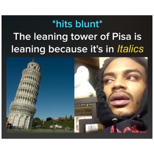 Tower of Pisa - Men's Premium T-Shirt