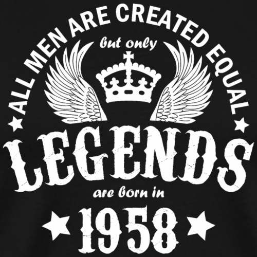 Legends are Born in 1958 - Men's Premium T-Shirt