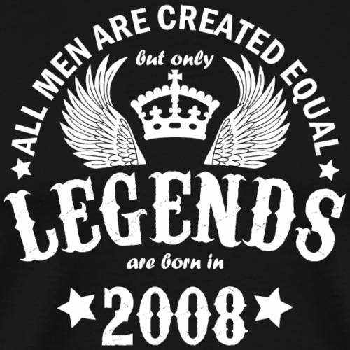 Legends are Born in 2008 - Men's Premium T-Shirt