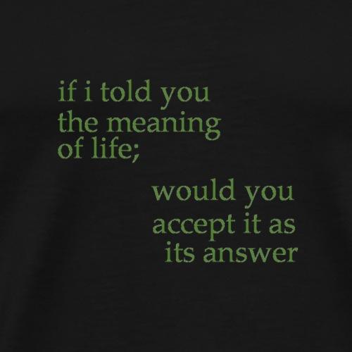 meaning of life - Men's Premium T-Shirt