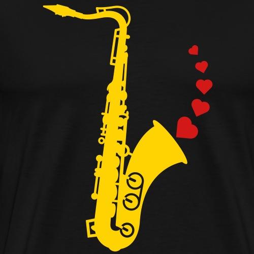 Sax and Love - Men's Premium T-Shirt