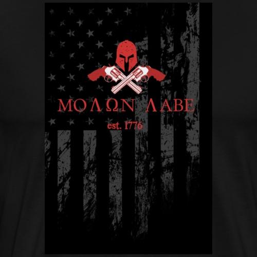 Molon Labe - US Flag - Men's Premium T-Shirt