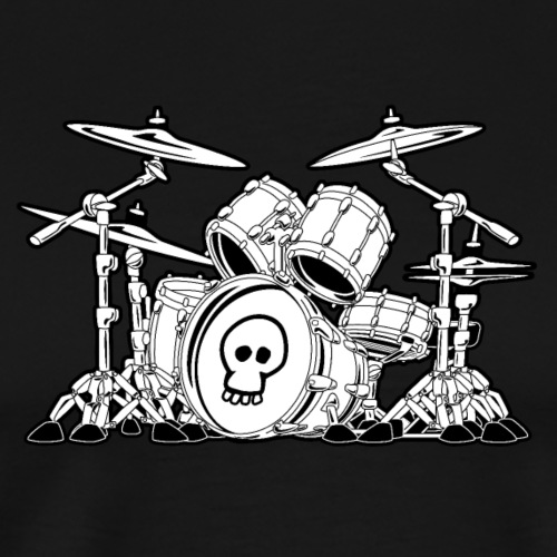 Drum Set Cartoon - Men's Premium T-Shirt