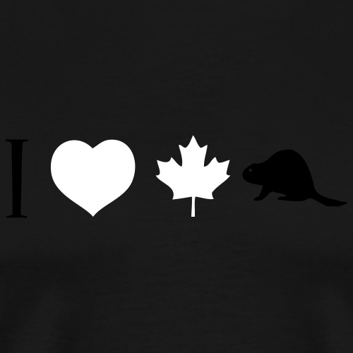 I Heart Canadian Beaver - Men's Premium T-Shirt