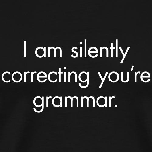 Silent Correction - Men's Premium T-Shirt