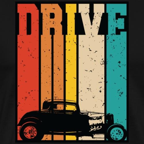 Drive Retro Hot Rod Car Lovers Illustration