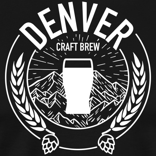 Denver Craft Brew - White Logo - Men's Premium T-Shirt