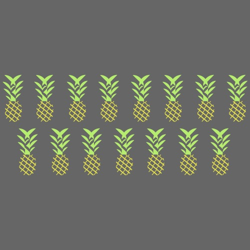 Line pineapple - Men's Premium T-Shirt