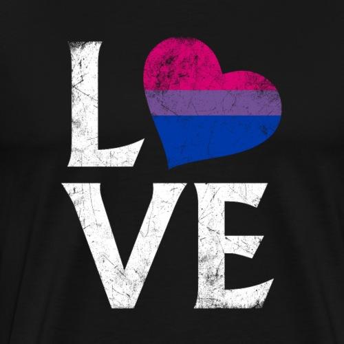 Bisexual Pride Stacked Love - Men's Premium T-Shirt