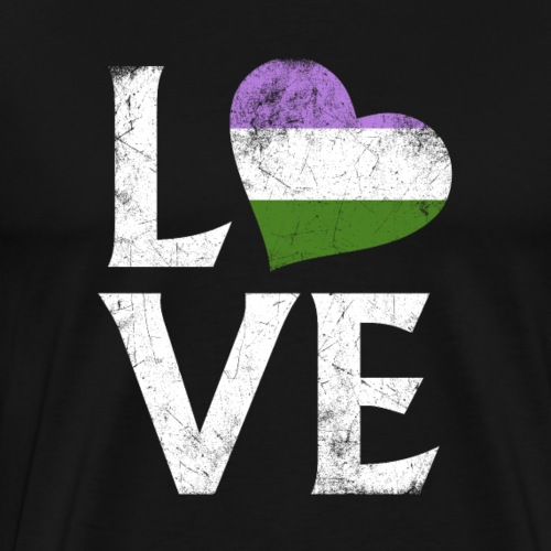 Genderqueer Pride Stacked Love - Men's Premium T-Shirt