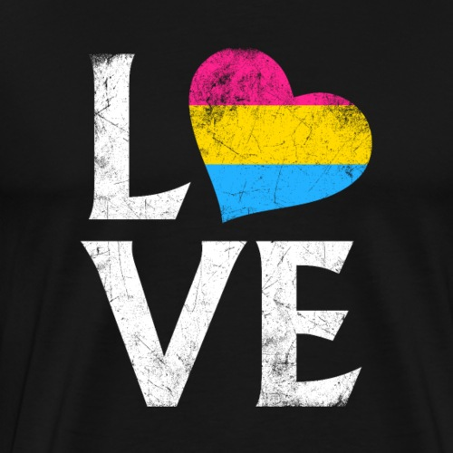 Pansexual Pride Stacked Love - Men's Premium T-Shirt