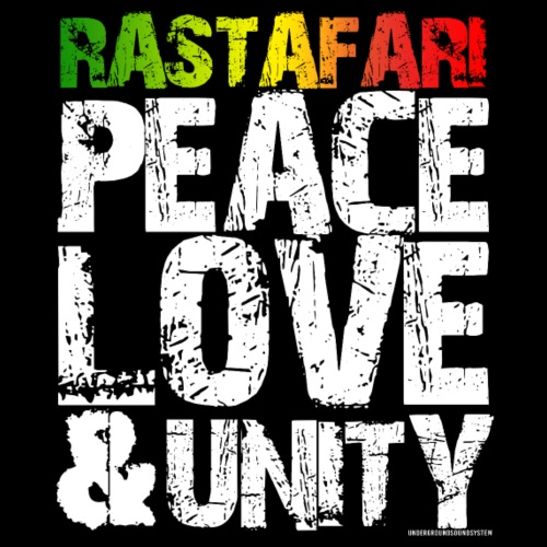 RASTAFARI - PEACE LOVE & UNITY - Men's Premium T-Shirt