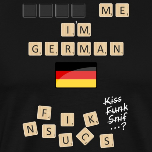 Scrabble me I'm German - White version - Men's Premium T-Shirt