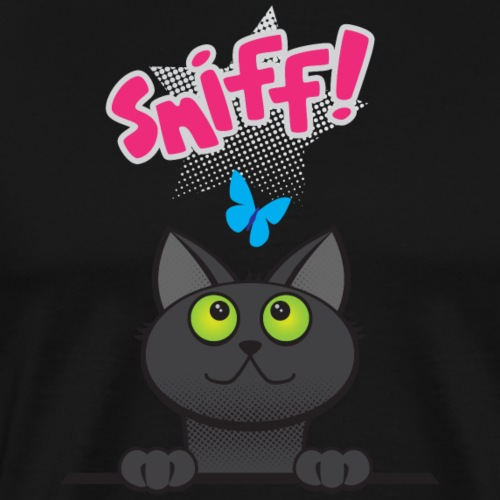 Sniff Cat - Men's Premium T-Shirt