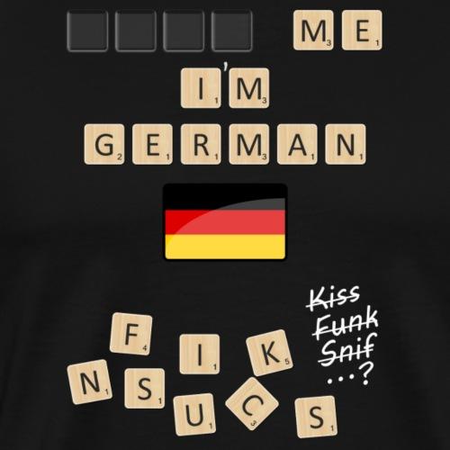 Scrabble me I'm German - White version - Men's Premium T-Shirt