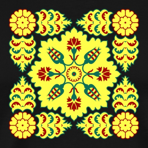Ottoman Turkish tulip pattern in red and yellow - Men's Premium T-Shirt