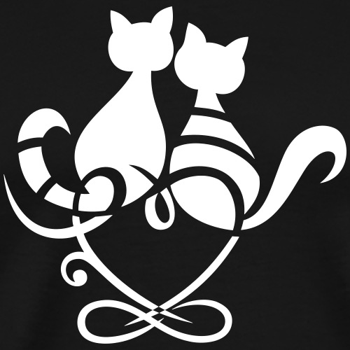Loving Cats with Heart and Infinity Symbol. Meow. - Men's Premium T-Shirt