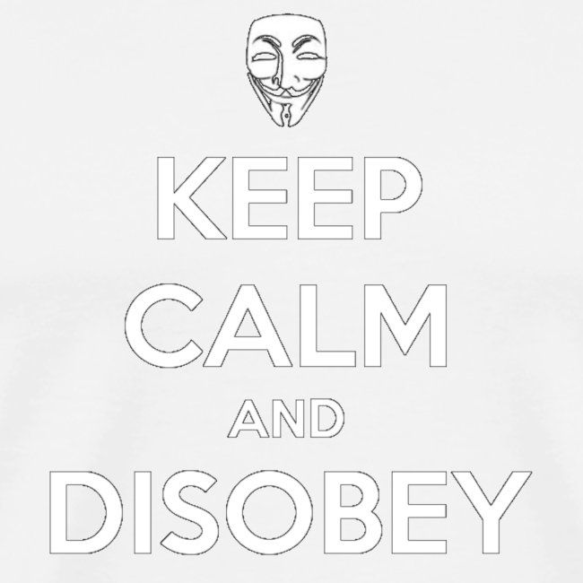 keep calm and disobey black gif