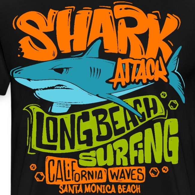 shark surf surfing california