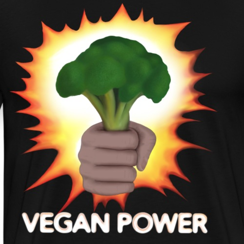 Vegan power Broccoli - Men's Premium T-Shirt