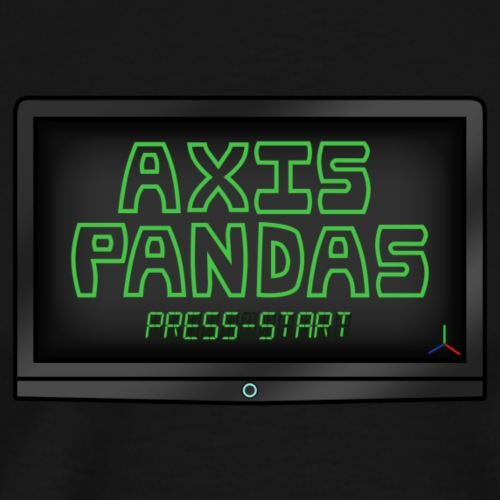 Axis Pandas Logo - Men's Premium T-Shirt