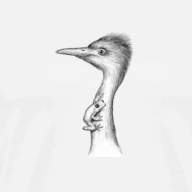 Egret with Frog by Imoya Design