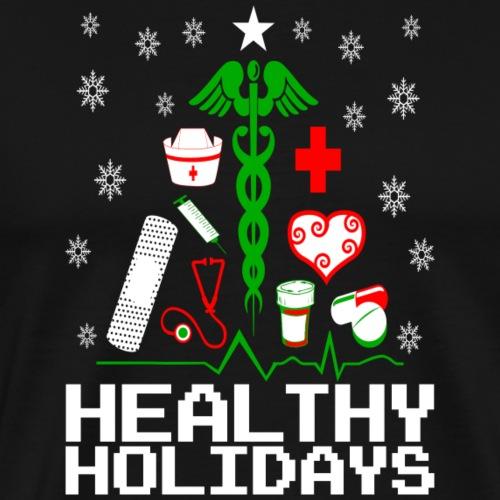 Healthy Holidays Nurse - Men's Premium T-Shirt