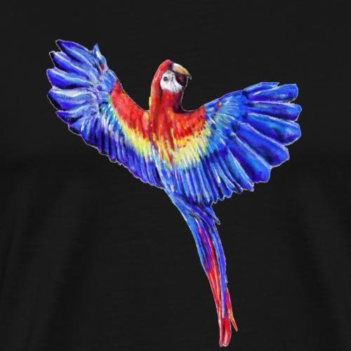 Scarlet macaw parrot - Men's Premium T-Shirt
